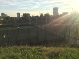 Join 5 and 8 a side friendly football game in Mile End throughout the week. All skills welcome