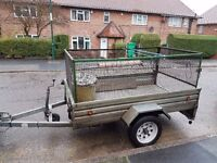 car trailer with cage