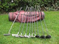 donnay evolution golf clubs and bag putter irons drivers
