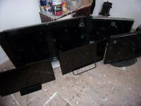 5X LCD TVS SAMSUNG PANASONIC TECHNIKA PHILIPS
