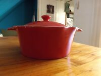 Beautiful red Laura Ashley Casserole Dish
