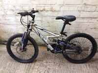 Pair of kids bikes. Six gear mountain bike and BMX. Age range for both 10-13.