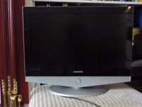 "Samsung 26"" flat screen LCD TV (old style)."