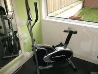 Gymn Equipment, cross trainer, sit up, abs station.