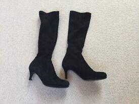 L.K. Bennett black suede boots, size 4
