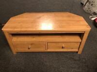 Next Oak veneer TV stand with drawers