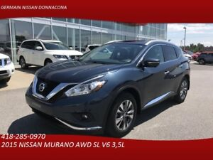 2015 NISSAN MURANO AWD SL AWD SL - A/C- TOIT PANORAMIQUE- ANGLE