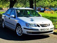 STUNNING!! 2003 SAAB 93 LINEAR TURBO SPORT - AUTO - LEATHER - FULL 12 MONTHS MOT