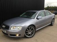 """2005 Audi A8 3.0 TDI Quattro 4dr Service History 20"""" wheels Huge Spec May Px Finance Available"""