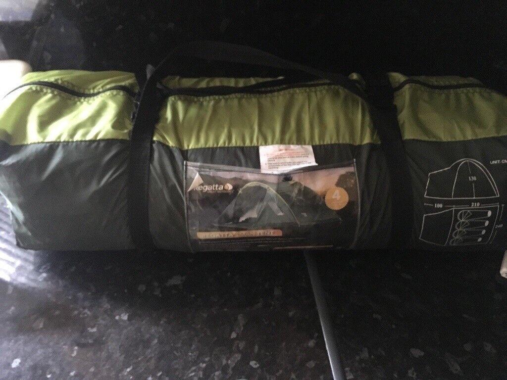Regatta 4 man dome tent and cooker
