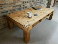 Handmade Shabby Chic Pallet-Style Coffee Table