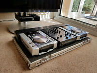 PIONEER CDJ-200 X2 with DJM-400 with PIONEER CASE