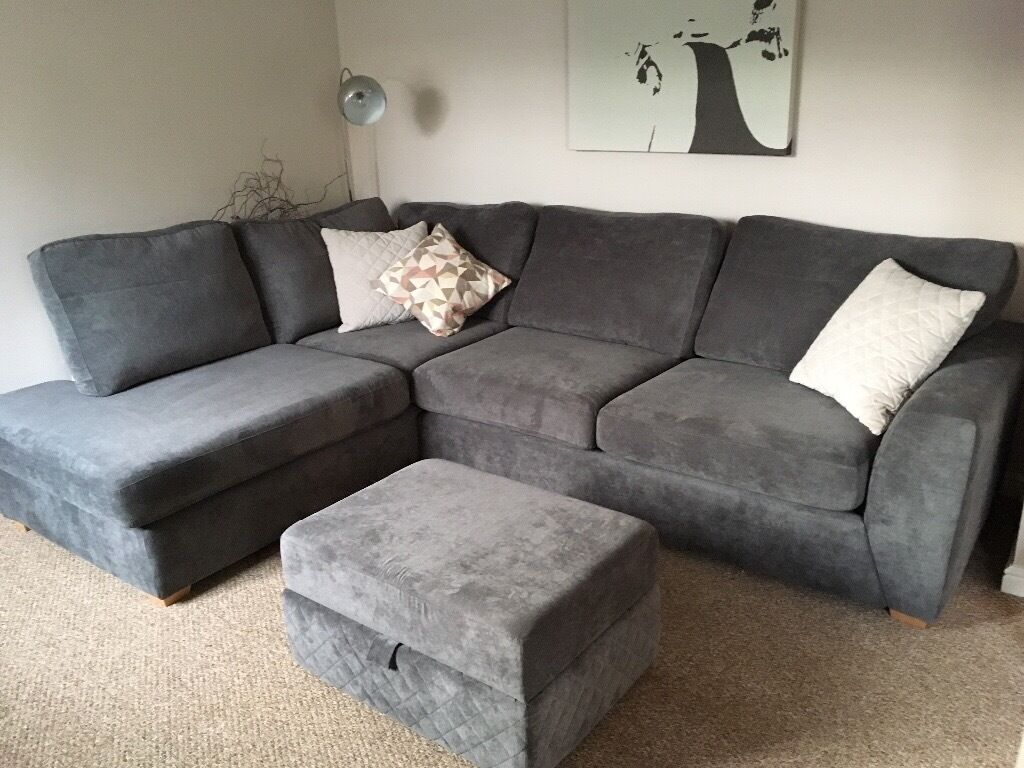 Dfs Grey Corner Sofa With Bed In Rugby Warwickshire