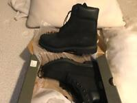 Mens waterproof black Timberland boots size 8