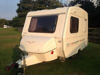 This is a 2005 model Freedom Jetstream Twin caravan with Awning in excellent condition