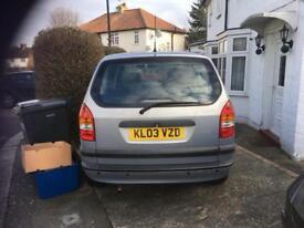 Vauxhall Zafira 2003, MOT 12 months 1.6, 7 seater