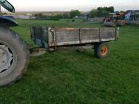 Weeks tractor tipping trailer ideal horse stables etc has steel floor and sides tips perfectly