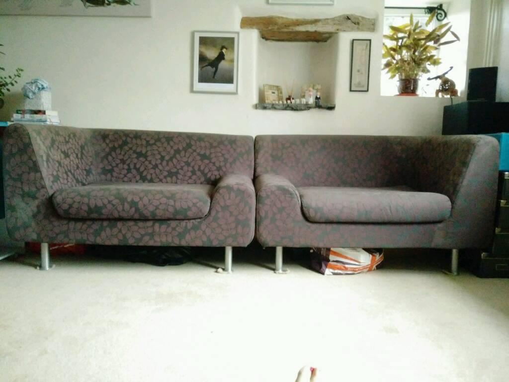 2 Matching Habitat Sofas Large Chairs