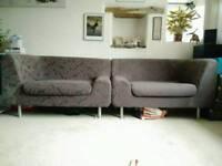 2 Matching habitat sofas/ large chairs