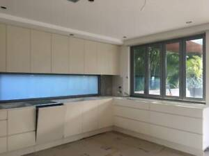 Kitchen Cabinets - built in shelving and Miele dishwasher