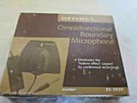 Optimus Omnidirectional Boundary Microphone 33-3020 in Original Box, +All Cables