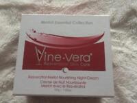 Brand New. Vera Vine Merlot Collection Nourishing Night Cream. 52g/1.83oz