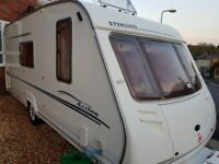 Sterling eccles 4berth caravan 2004 with mover