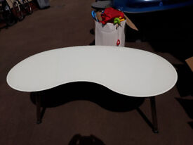 Glass Table (white) with adjustable legs