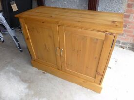 Bespoke handcrafted solid pine cupboard with four adjustable shelves