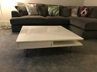 White high-gloss TOFTERYD Ikea Coffee Table for sale