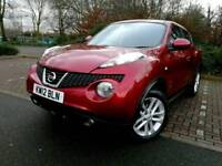 ((Nissan Juke Tekna FULLY LOADED TOP SPEC~NAV~Leather 1.6 16v Low mileage! 48k