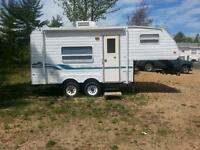 1997 Bonair Fifth Wheel Trailer including hitch