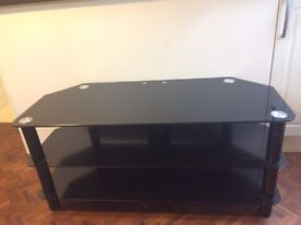 Black Glass TV/ Media Stand