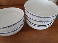 Five Villeroy & Boch Large China Bowls