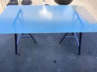 Free - Ikea glass top desk/table
