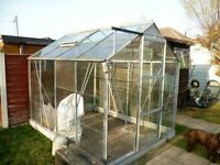 Aluminum Greenhouse 8ft x 6ft FREE to dismantle and collect from Hythe Hampshire.