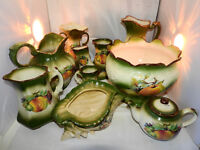 selection green ceramic ware KH pottery( 11ps)