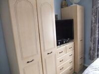 Matching Wardrobes and chest of draws,