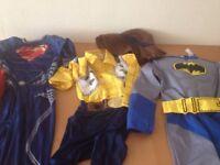 Boys Fancy Dress Bundle Jo blot Age 5-8 Yrs Batman Spider man, cowboy