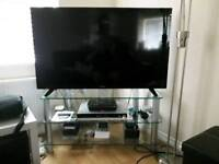 "50"" Panasonic TV and Solid glass Stand. £150 NO Offers)"