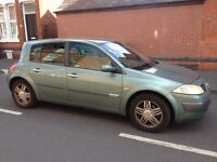 Swap sell Megan 1.6 16v mot June 04 drives mint 495 May swip