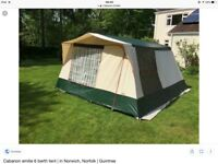 """CABANON """"EMILIE"""" 6 BERTH CANVAS TENT WITH METAL POLES. INNER TENT"""