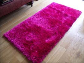 Dark Pink 'Indulgence' Dunelm Rug