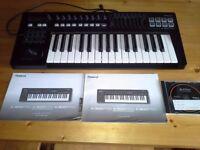 Roland A-300PRO Midi keyboard controller.