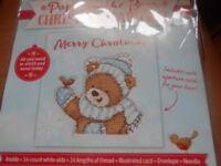 CROSS STITCH PROJECT - CHRISTMAS BEAR