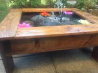 wooden solar powered Water feature