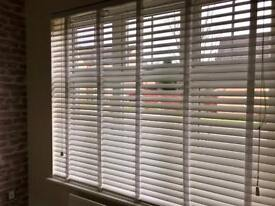 SOLD - White Faux Wood Blind