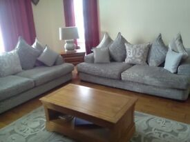Two Beautiful 4 seater Sofas