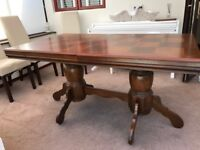 Wooden Dining Table Extendable 5ft/6ft