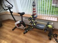 Body Sculpture exercise bike and wonder core bench